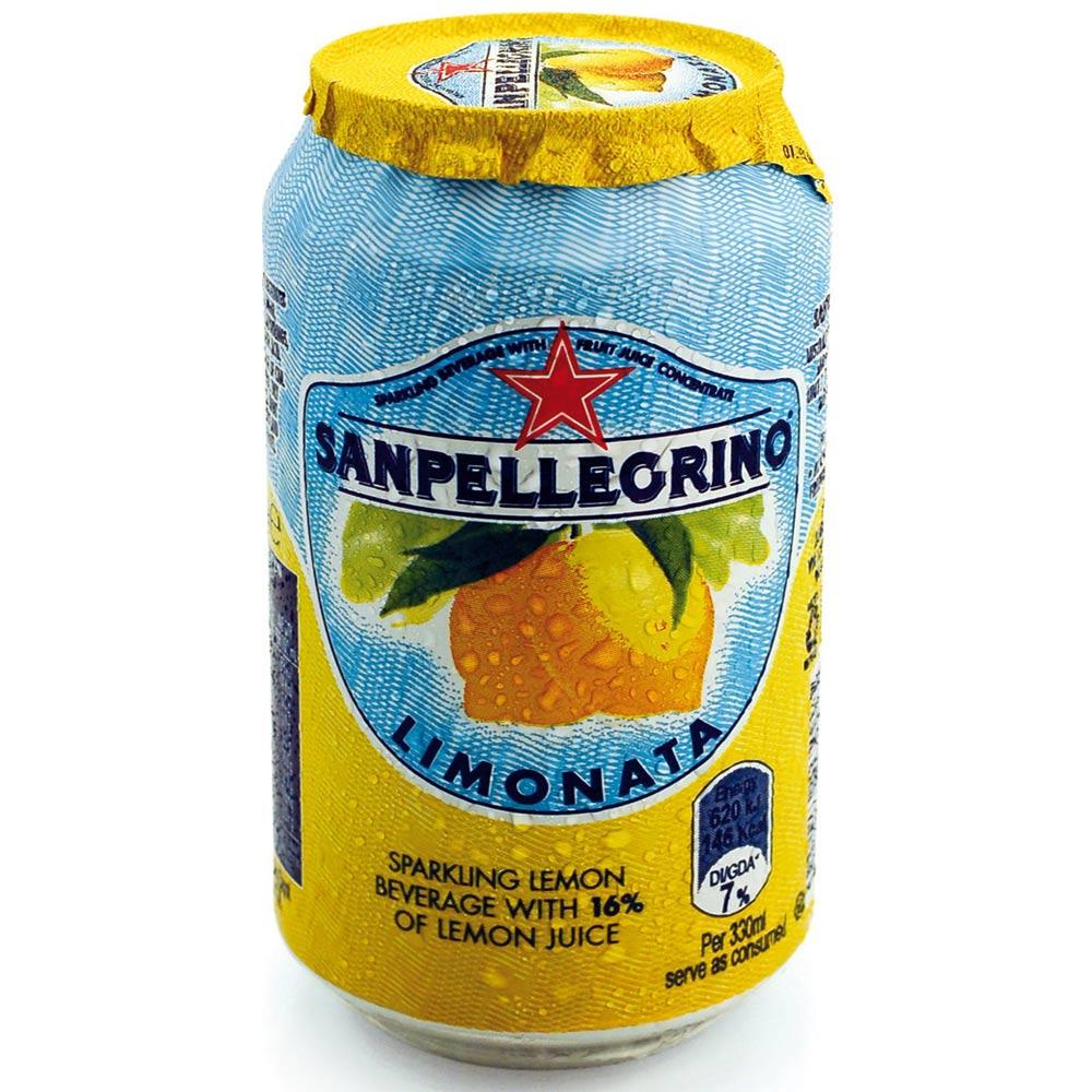 S.Pellegrino 聖沛黎洛氣泡水果飲料-萊姆口味(330mlx6瓶)
