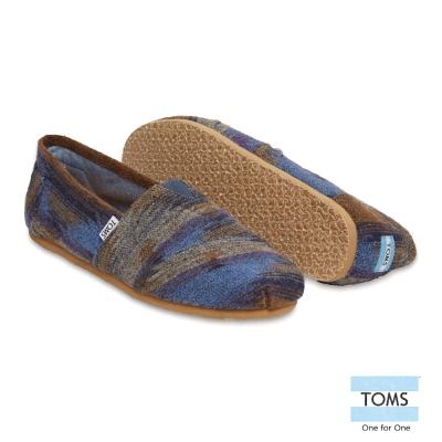 TOMS 毛呢針織懶人鞋-男款(灰)