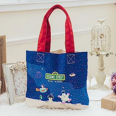 MARC ROCOOX芝麻街聯名款-奇幻星空帆布購物袋-8010