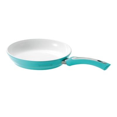 KEVNHAUN-陶瓷不沾平底鍋24CM-藍綠色-8H