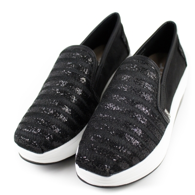 XCESS-女增高鞋GW044BLK-水晶條紋黑