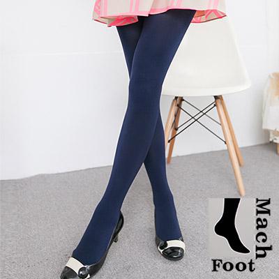 Mach Foot 百分百台灣製造刷毛保暖不透光柔軟褲襪-藏青2入組