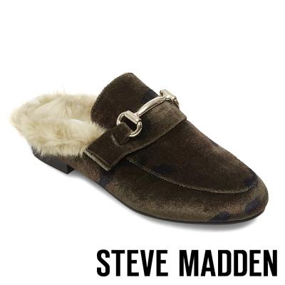 STEVE MADDEN-JILL-CAMOFLAGE 毛絨低跟穆勒鞋-迷彩