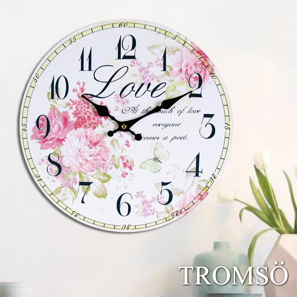 TROMSO無框畫時鐘-花語飛蝶(圓形)