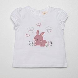PIPPY 小兔子短袖上衣 白