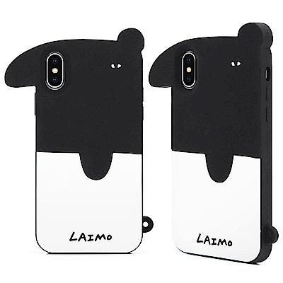 GARMMA LAIMO馬來貘iPhone X-立體矽膠果凍套 經典來貘