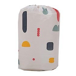 iSFun繽紛幾合 居家棉被衣物收納束口袋 大號90x45cm