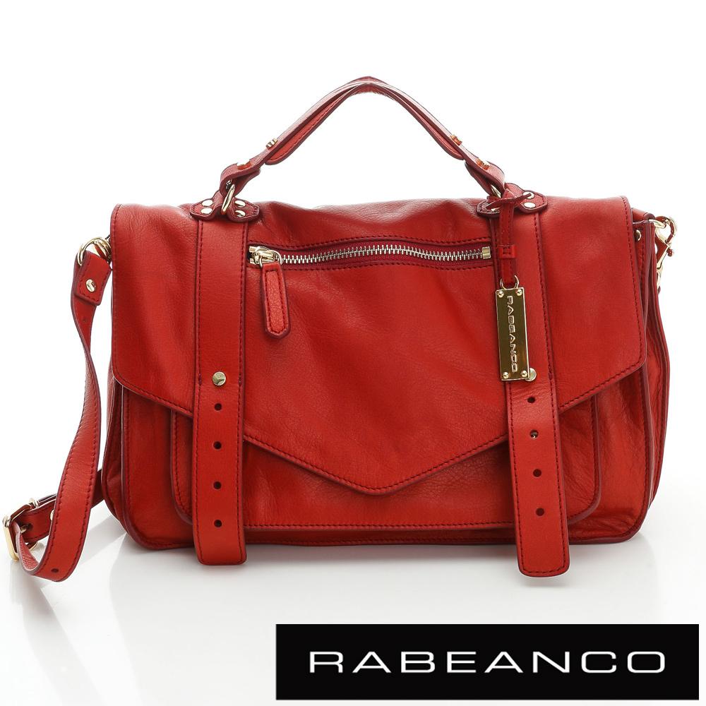 RABEANCO Modern現代美學系列雙飾帶包(小) 紅