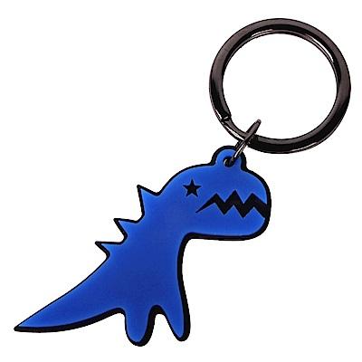 agnes b. SPORT b閃電恐龍鑰匙圈-藍