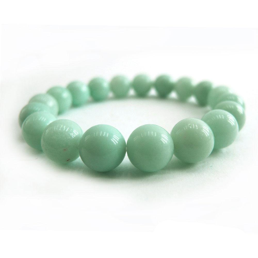 Hera頂級濃郁湛藍綠天河石手珠(10mm)