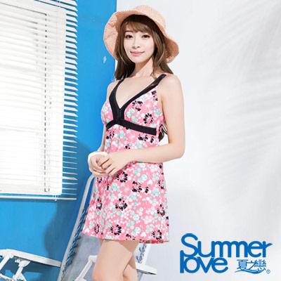 夏之戀SUMMERLOVE 繽紛連身帶裙泳衣