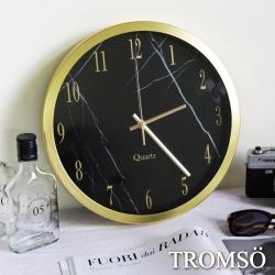 TROMSO風尚義大利金屬時鐘-大理石黑