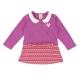 愛的世界 MYBABY 公主領拚接洋裝長袖上衣/2~4歲 product thumbnail 1
