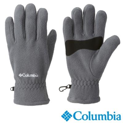 【Columbia哥倫比亞】 男-纖柔刷毛手套-灰色 USM91040GY