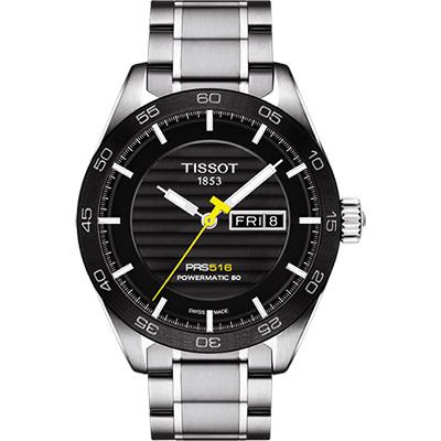 TISSOT PRS516系列時尚機械腕錶-黑T1004301105100 42mm