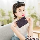 KINAZ - 永恆色偶然系列~羊皮輝映瑰麗鑰匙包-絢麗紫