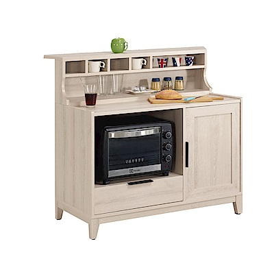 品家居 謝爾達3.3尺中島型餐櫃(三色可選)-100x73.8x105cm免組