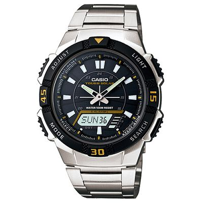 CASIO 新城市陽光遊俠電子運動錶(AQ-S800WD-1E)-黑面/42mm
