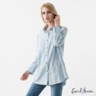Earl Jean 寬版單寧襯衫-藍-女