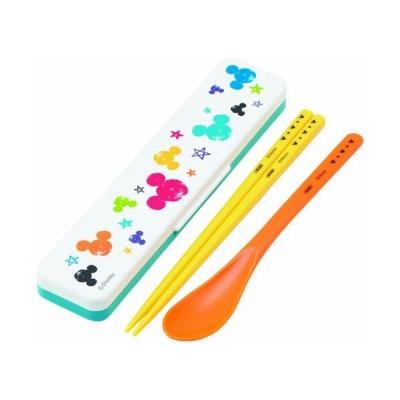 SKATER-迪士尼米奇繽紛手繪系列湯匙筷子組附盒