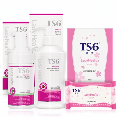 TS6護一生 清新淨護濕巾組(果萃250gx1+慕斯加護型100gx1+柔濕巾x1盒)