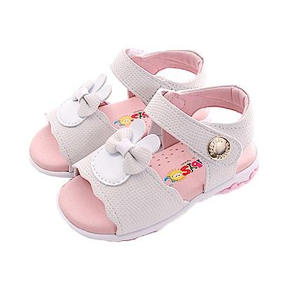 蝴蝶結手工魔鬼貼涼鞋 白 sk0404 魔法Baby