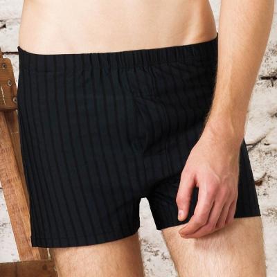 DAYNEER-寬鬆舒活-經典條紋四角褲-摩登灰