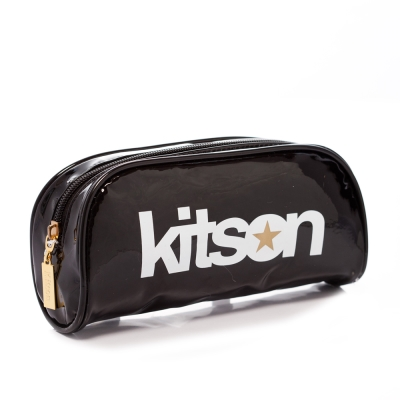 kitson 星星LOGO 漆皮化妝包 BLACK