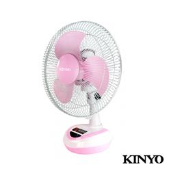 KINYO 12吋(充/插)兩用行動風扇-清涼粉(CF-1201)不插電也能吹