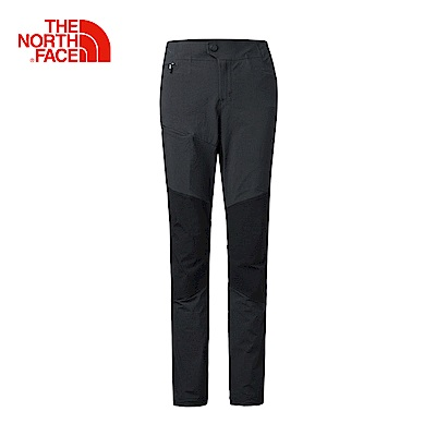 The North Face北面女款黑色防潑水戶外徒步長褲