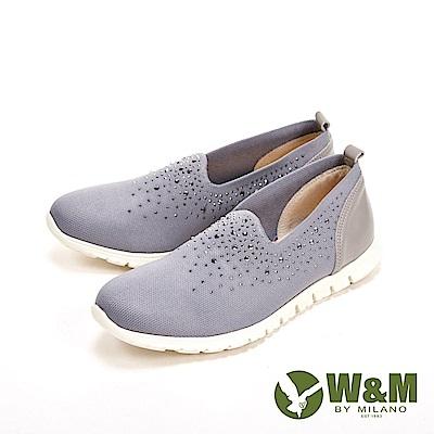 W&M 閃亮亮彈力輕量休閒女鞋-灰
