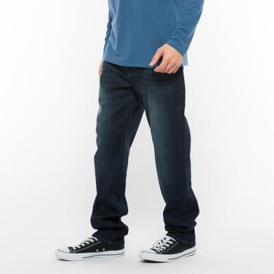 Hang-Ten-男裝-直筒合身牛仔長褲-深藍