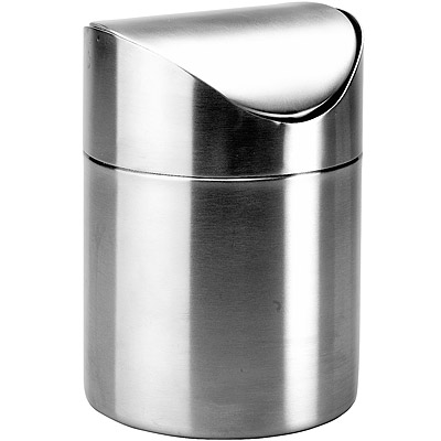 IBILI Clasica桌型垃圾桶(霧銀)