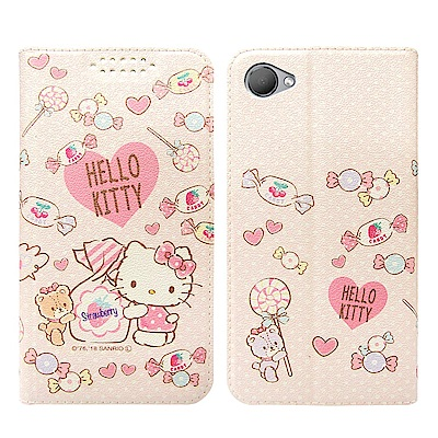 Hello Kitty貓 HTC Desire 12 粉嫩系列彩繪磁力皮套(軟糖...