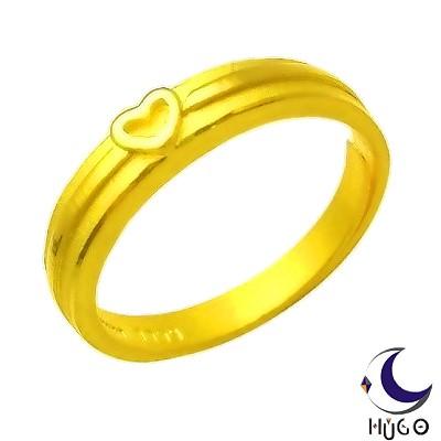 HUGO-心心相印黃金女戒-約0-97錢