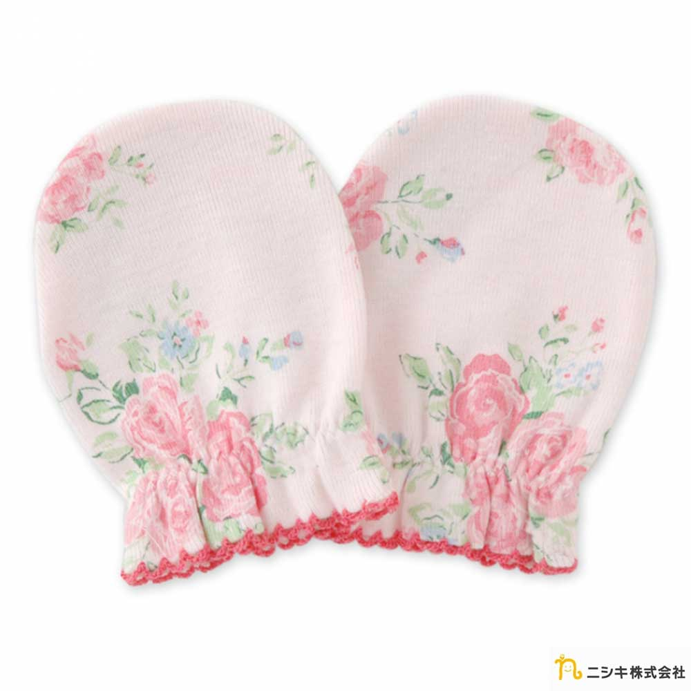 Nishiki 日本株式會社 粉紅玫瑰花寶寶手套