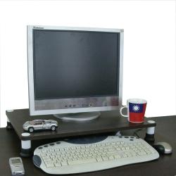 MIT 深40×寬60桌上型置物架-深胡桃木色