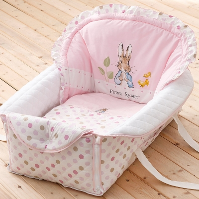 [買1送1] 奇哥 花園比得兔攜帶型小床組-粉紅