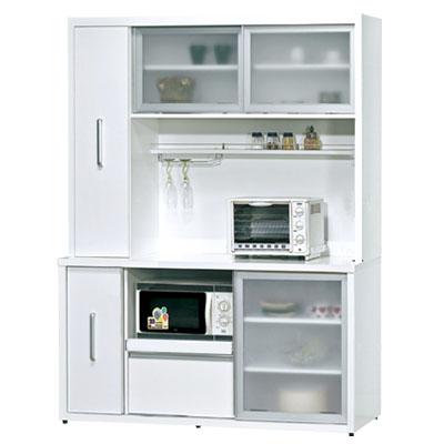 愛比家具  晶晶5尺推門高餐櫃