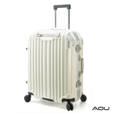 AOU 節奏生活 25吋蜂巢結構省力手把TSA海關鎖 鋁框箱(白色)90-031B