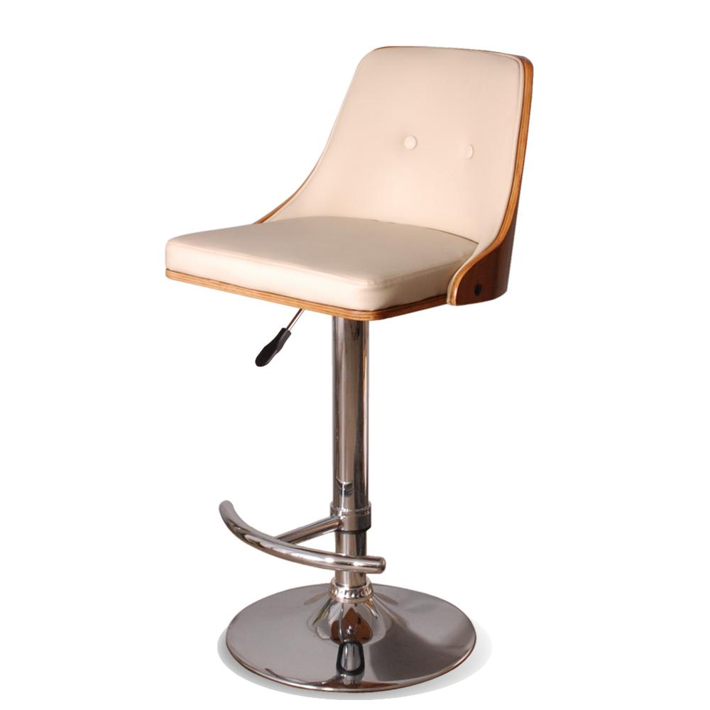 Olof?洛夫吧台椅(皮質)-米色