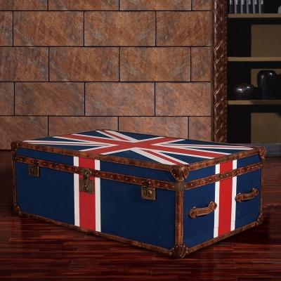 MUSE Cleveland克利夫蘭復古英倫國旗二抽箱桌