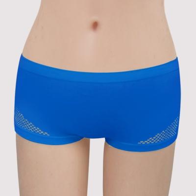 曼黛瑪璉 紓壓好動IceBar無鋼圈   低腰平口內褲(寶藍)