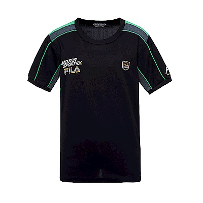 FILA 男圓領T恤-黑 1TES-1444-BK