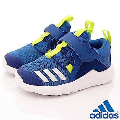 adidas童鞋 輕量透氣慢跑款 QZE096 藍 (寶寶段)