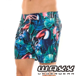 WAXX熱浪系列-巨嘴鳥快乾型男海灘褲(15英吋)