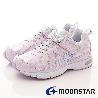 日本月星 頂級競速童鞋 甜心點點機能運動鞋 EI057 紫 (中大童段)