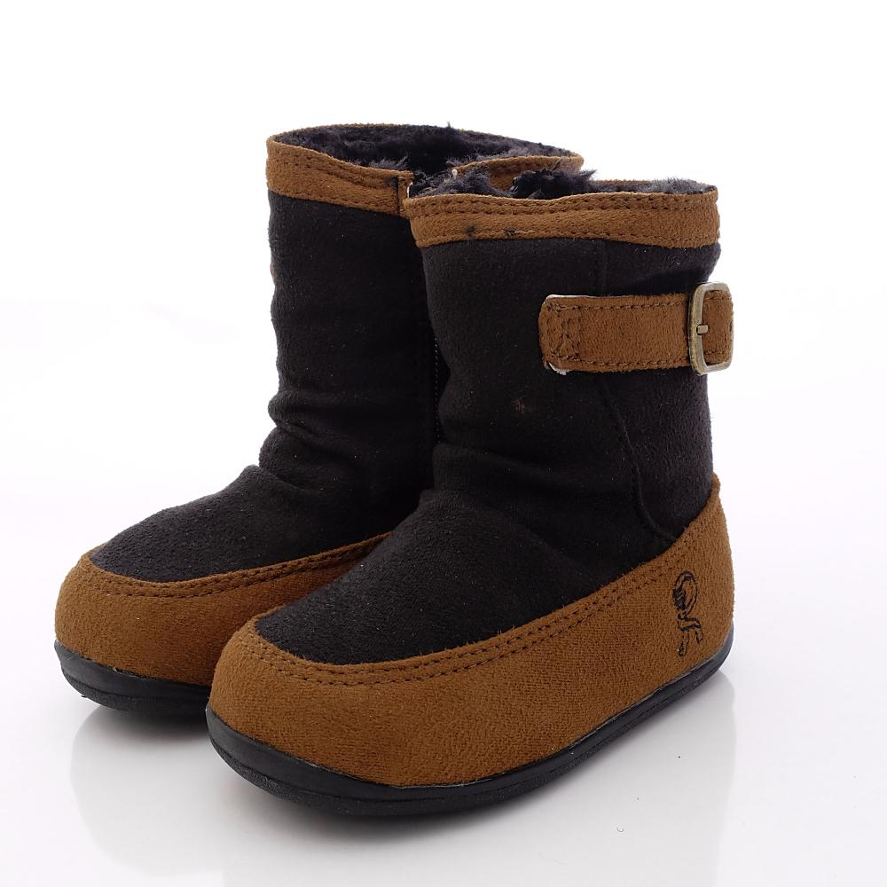 Roberta童鞋-暖暖時尚短靴款-614909咖啡(中小童段)HN