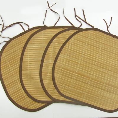【范登伯格】仲夏頌 天然竹子餐椅墊-竹絮 (40x43cm 四入一組)