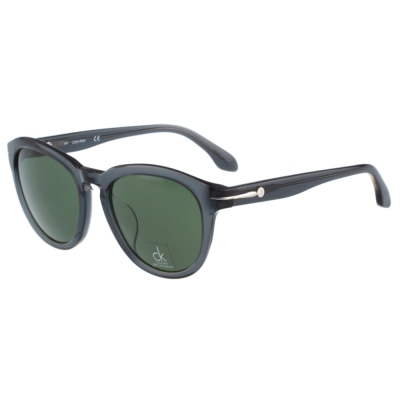 Calvin Klein- 復古太陽眼鏡(透明灰黑)
